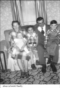 Elmer and Hazel Schmidt family