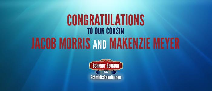 Congrats - Jacob and Makenzie Morris
