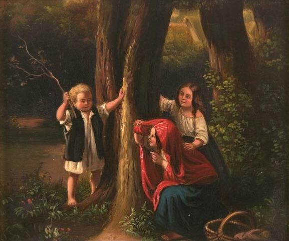 German Children Playing Hide and Seek
