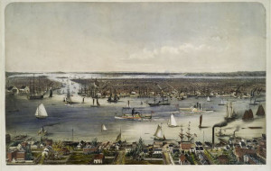 New York City and the East River 1848
