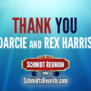 Thanks to Darcie & Rex Harris!