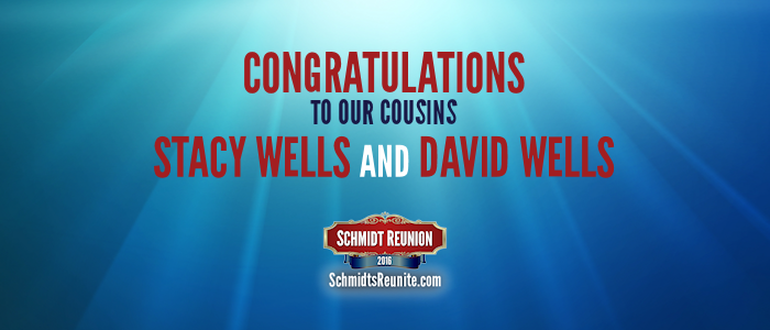 Congrats - Stacy and David Wells
