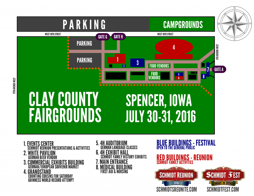 Fairgrounds Map - Schmidt Reunion Fest