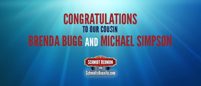 Congrats - Brenda and Michael Simpson