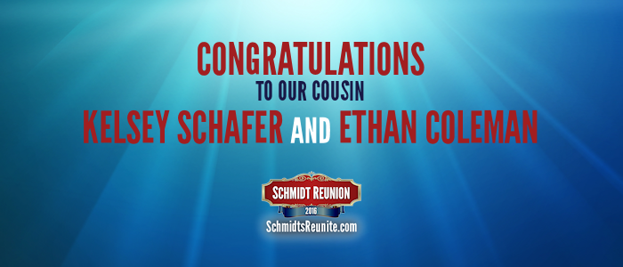 Congrats - Kelsey Schafer and Ethan Coleman
