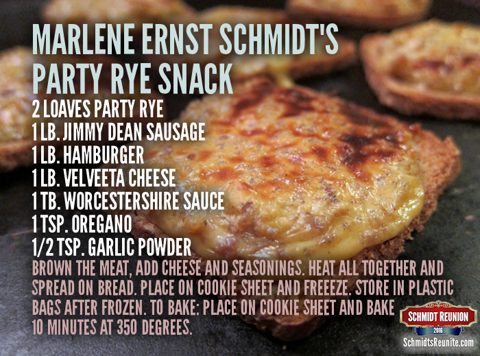 Party Rye Snack Recipe