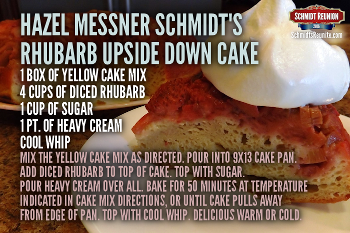 Rhubarb Upsidedown Cake Recipe