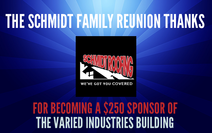 Sponsor Thanks - Schmidt Roofing