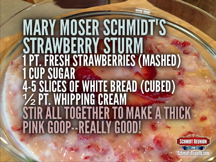 Strawberry Sturm Recipe