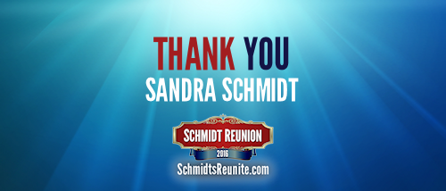 Thank You - Sandra Schmidt