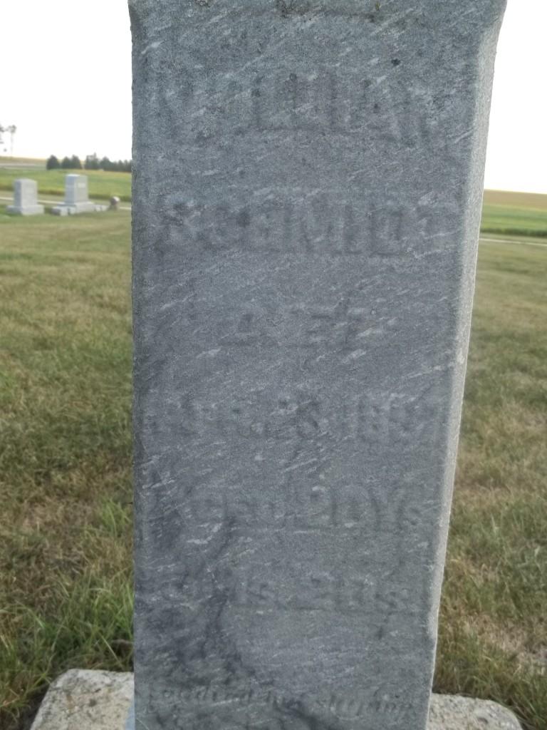 Wilhelm Conrad Schmidt tombstone, Dysart Cemetery (Dysart, Iowa)