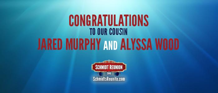 Congrats - Jared and Alyssa Wood