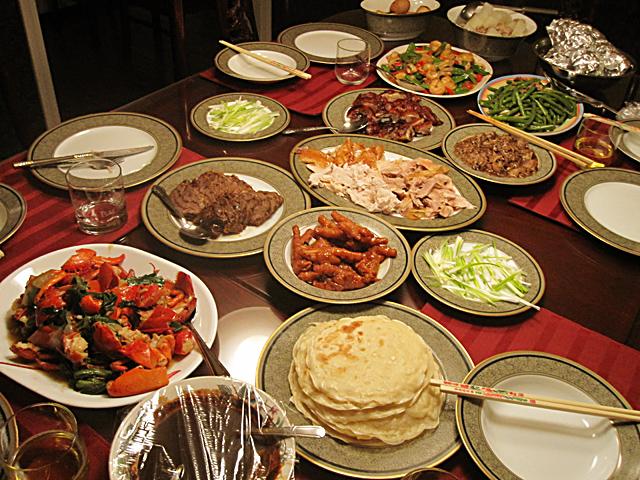 Feast spread