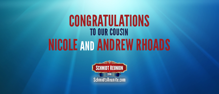 Congrats - Nicole and Andrew Rhoads