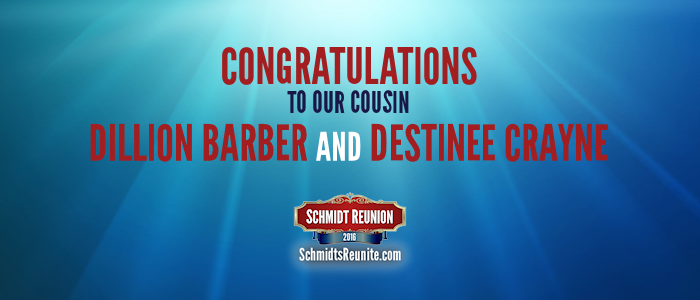 Congrats - Dillion Barber and Destinee Crayne