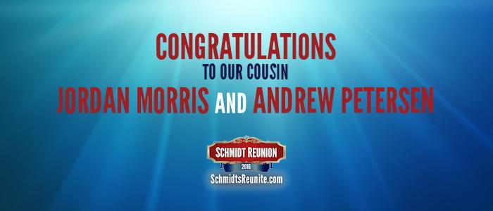Congrats - Jordan Morris and Andrew Petersen