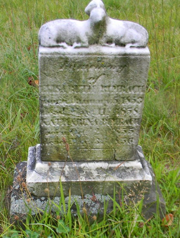 Elizabeth and Catherine Rimbach tombstone