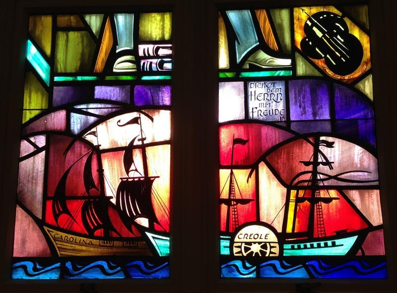 St Lorenz Lutheran Church West windows
