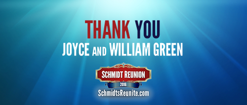 Thank You - Joyce and William Green