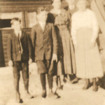 "(Left to right) Frederick W. ""Freddy"" Van Loh (1906-1967); John Norwin Van Loh (1904-1982); Gesina F. ""Sena"" Van Loh (1899-1924); Henry Conrad Van Loh Jr. (1902-1988); Martha Elizabeth (Van Loh) Lusthoff (1901-1997).  These were the children of Henry and Margaret (Schmidt) Van Loh. The father, Henry, died in 1907, and the mother, Margaret ""Maggie"", died in 1910, leaving them orphans who were split up and raised by uncles and aunts.  These children were the grandchildren of Conrad Schmidt, great grandchildren of Dietrich Schmidt Sr., 2xgreat grandchildren of Friedrich Schmidt, 3xgreat grandchildren of Johannes Schmidt Jr., 4xgreat grandchildren of Johannes Schmidt Sr., 5xgreat grandchildren of Hans Heinrich Schmidt, and 6xgreat grandchildren of Hans Schmidt.  Photo courtesy of Denise Lindemann"