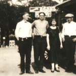 "(Left to right) John Norwin Van Loh (1904-1982); Frederick W. ""Freddy"" Van Loh (1906-1967); Martha Elizabeth (Van Loh) Lusthoff (1901-1997); Henry Conrad Van Loh Jr. (1902-1988).  These were the surviving children of Henry and Margaret (Schmidt) Van Loh. The father, Henry, died in 1907, and the mother, Margaret ""Maggie"", died in 1910, leaving them orphans who were split up and raised by uncles and aunts.  These children were the grandchildren of Conrad Schmidt, great grandchildren of Dietrich Schmidt Sr., 2xgreat grandchildren of Friedrich Schmidt, 3xgreat grandchildren of Johannes Schmidt Jr., 4xgreat grandchildren of Johannes Schmidt Sr., 5xgreat grandchildren of Hans Heinrich Schmidt, and 6xgreat grandchildren of Hans Schmidt.  Photo courtesy of Denise Lindemann​"