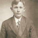 "Michael Frederick Schmidt (1899-1974), son of Georg Karl Schmidt and Anna Margaretha ""Maggie"" (Lindemann) Schmidt.  Mike was the grandson of Dietrich Schmidt Jr., great grandson of Dietrich Schmidt Sr., 2xgreat grandson of Friedrich Schmidt, 3xgreat grandson of Johannes Schmidt Jr., 4xgreat grandson of Johannes Schmidt Sr., 5xgreat grandson of Hans Heinrich Schmidt, and 6xgreat grandson of Hans Schmidt.  Photo courtesy of Denise Lindemann"