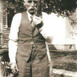 "Michael ""Mike"" Lindemann (1860-1951), here pictured, was the husband of Lizzie (Schmidt) Lindemann (1864-1939).  Mike was the son-in-law of Conrad Schmidt, grandson-in-law of Dietrich Schmidt Sr., great-grandson-in-law of Friedrich Schmidt, 2xgreat-grandson-in-law of Johannes Schmidt Jr., 3xgreat-grandson-in-law of Johannes Schmidt Sr., 4xgreat-grandson-in-law of Hans Heinrich Schmidt, and 5xgreat-grandson-in-law of Hans Schmidt.  Photo courtesy of Denise Lindemann"