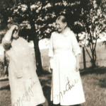 "On the left is an as-yet-unidentified ""Maggie"" (there are multiple Maggies this could be, and with her face obscured, her identity is harder to determine); on the right is an as-yet-unidentified ""Martha"" (quite possibly Martha Elizabeth [Van Loh] Lusthoff [1901-1997])...  More investigation needed to confirm identities...  Photo courtesy of Denise Lindemann"