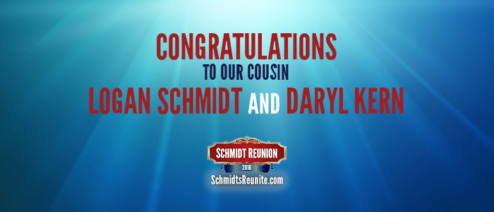 Congrats - Logan and Daryl Schmidt