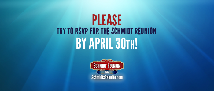 Please Try to RSVP by April 30