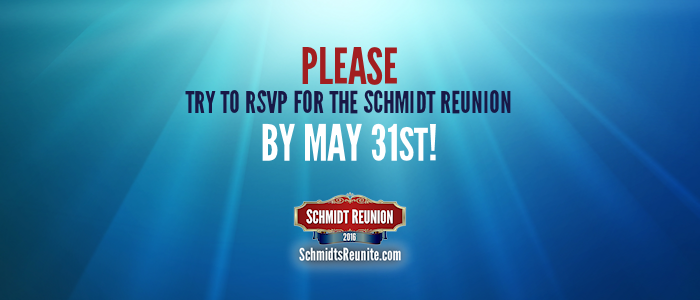 Please Try to RSVP by May 31st