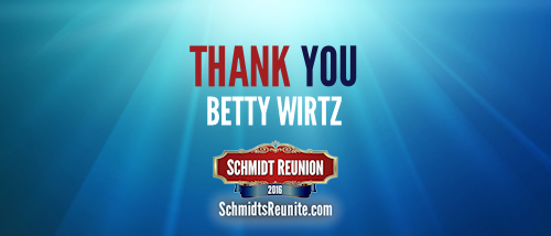 Thank You - Betty Wirtz