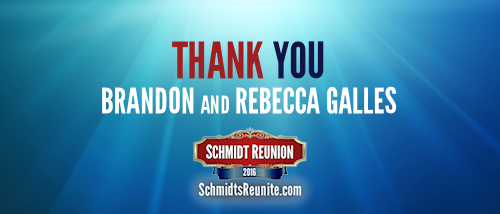 Thank You - Brandon and Rebecca Galles