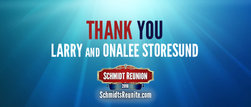Thank You - Larry and Onalee Storesund
