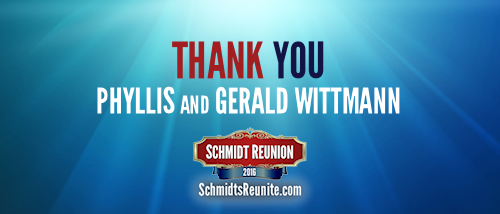 Thank You - Phyllis and Gerald Wittmann