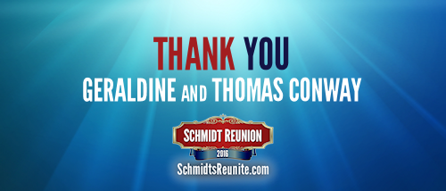 Thank You - Geraldine and Thomas Conway