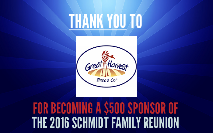 Sponsor Thanks - Great Harvest Bread Company