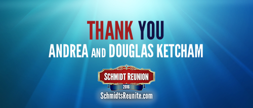 Thank You - Andrea and Douglas Ketcham