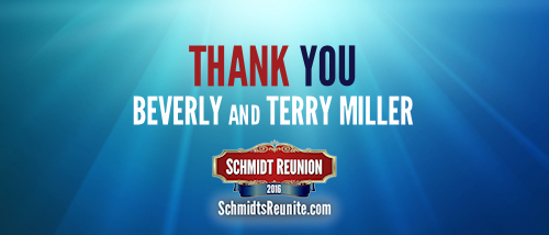 Thank You - Beverly and Terry Miller