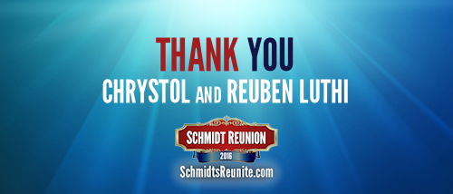 Thank You - Chrystol and Reuben Luthi