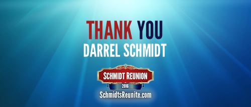 Thank You - Darrel Schmidt