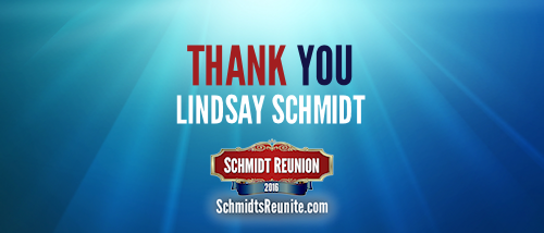 Thank You - Lindsay Schmidt