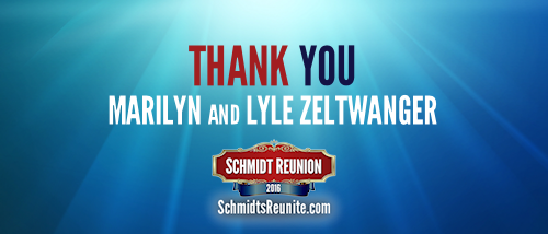 Thank You - Marilyn and Lyle Zeltwanger