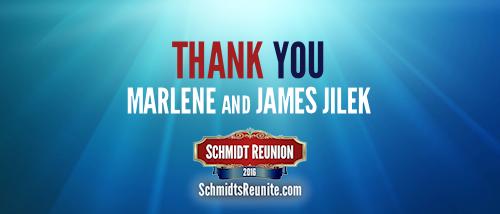 Thank You - Marlene and James Jilek
