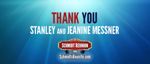 Thank You - Stanley and Jeanine Messner