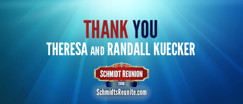 Thank You - Theresa and Randall Kuecker