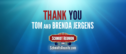 Thank You - Tom and Brenda Jergens