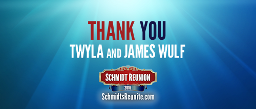 Thank You - Twyla and James Wulf