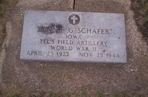Benjamin George Schafer tombstone