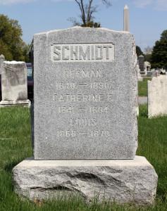 Herman Schmidt tombstone